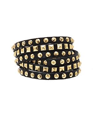Linea Pelle Leather Double Row Wrap Bracelet