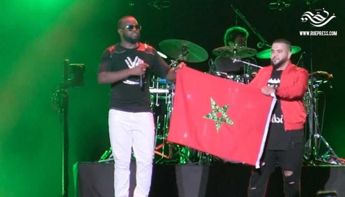 غيمس يؤدي النشيد الوطني المغربي
