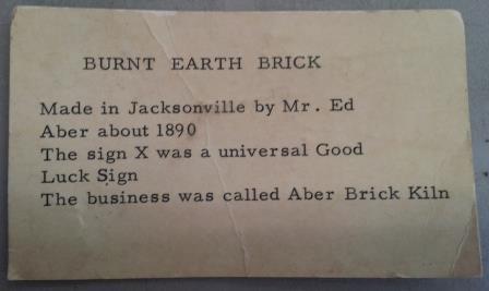 Aber brick description card