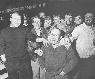 Rugby Club Hilversum: Frits Frankfurt met team