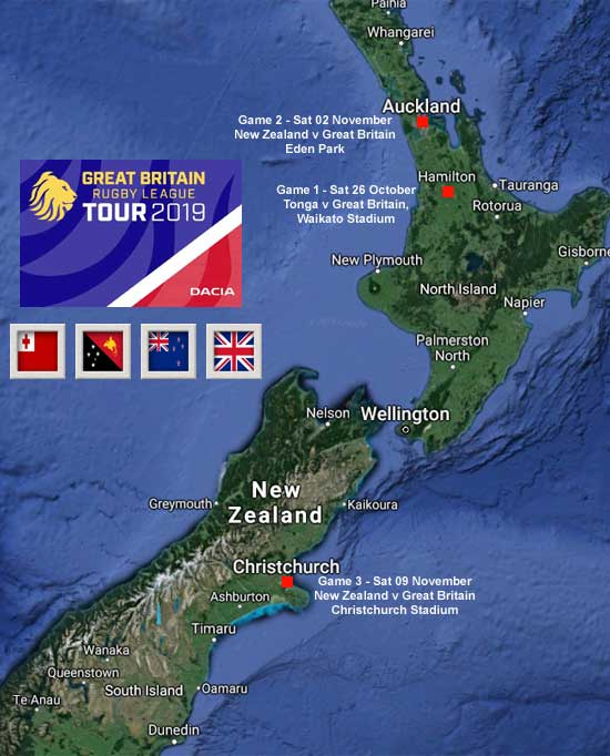 2019 Great Britain Tour of New Zealand