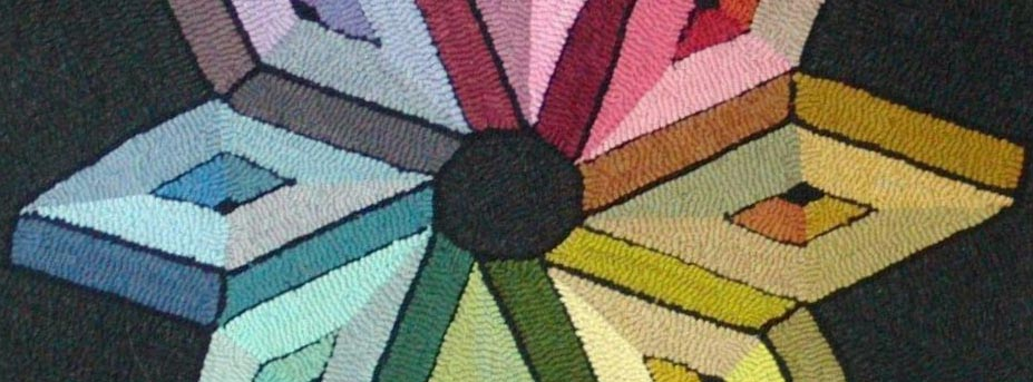 color wheel for color planning rug hooking class