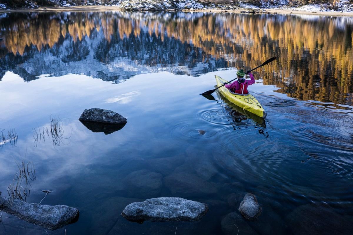 autumn paddling