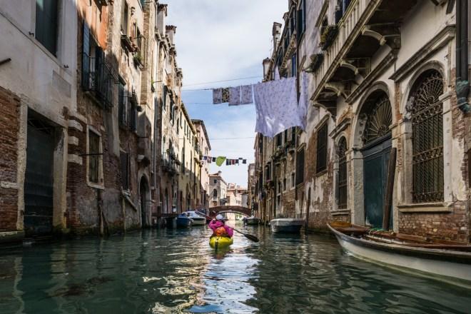 paddling Venice