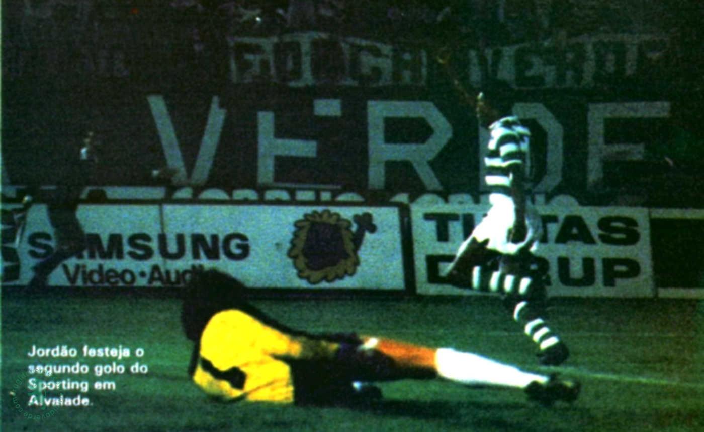 Em 1985, noite de gala na vitória do Sporting por 3-1, sobre os holandeses do Feyenoord