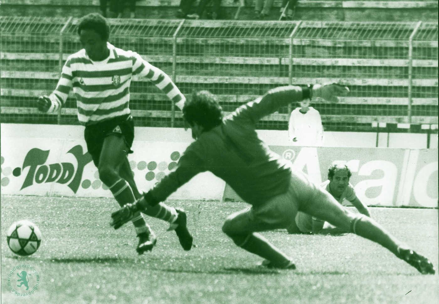"""Neste dia… em 1983, o Sporting vence o Estoril com 3 golos do """"trio maravilha"""""""