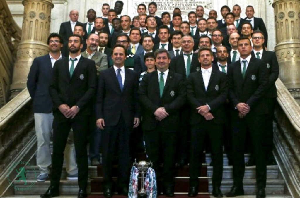Neste dia… em 2015, Sporting recebido na Câmara de Lisboa pela vitória na Taça de Portugal