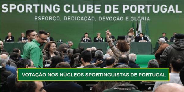 Votação nos núcleos Sportinguistas de Portugal