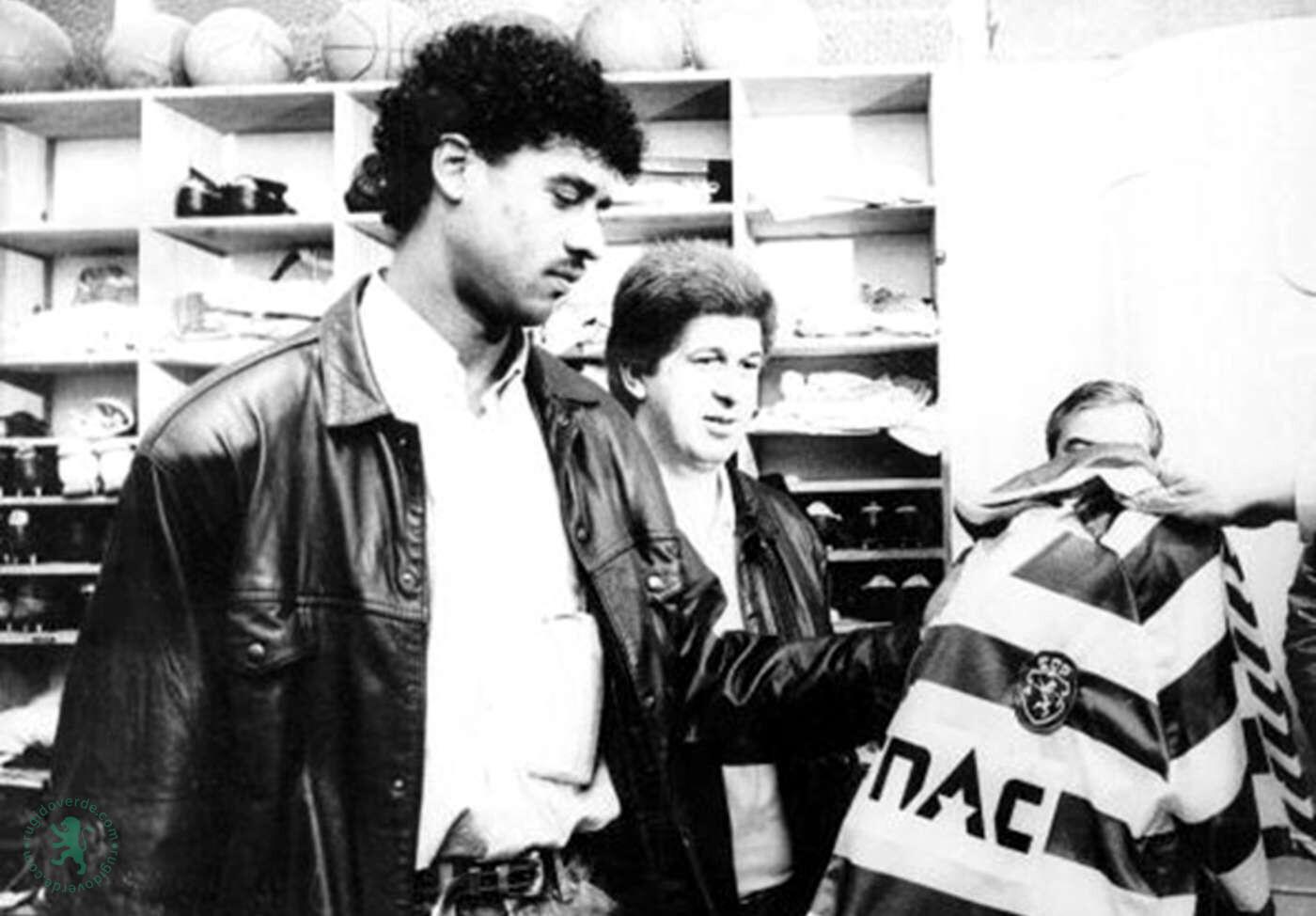 Em 26 de Outubro de 1987 Rijkaard chegava a Lisboa para assinar com o Sporting