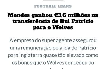 Jorge Mendes e Rui Patrício: Talents Throne