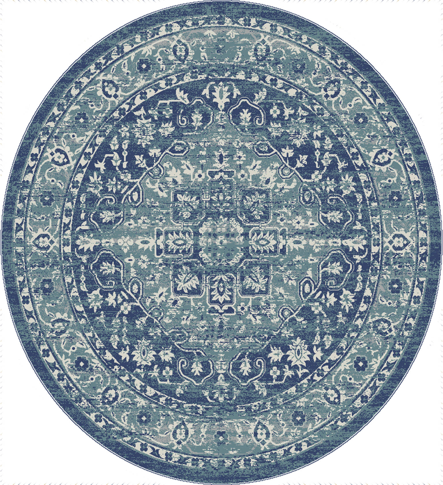 United Weavers Bali Blue Round 7 To 8 Ft Olefin Carpet 123452 Sku 123452