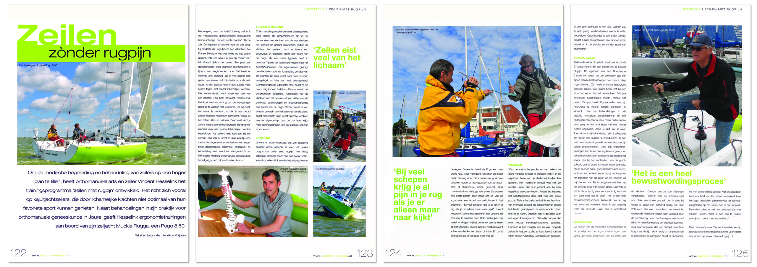 artikel vincent hesselink in yachtvision