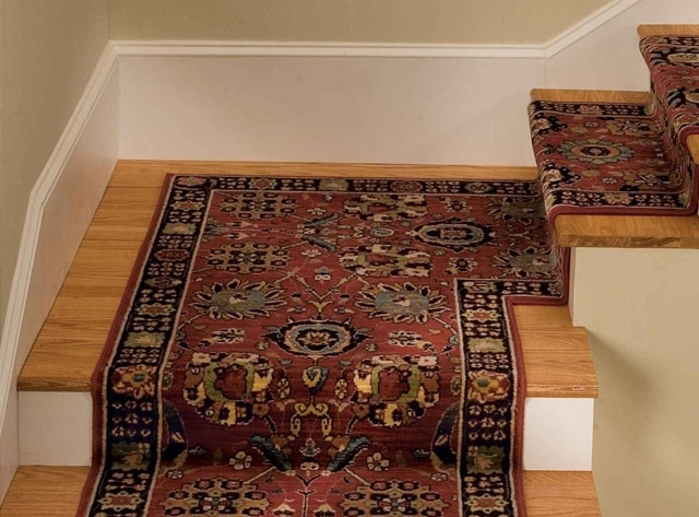 Best Stair Runners Style For A Perfect Home   Carpet And Tile Stairs   Gray   Backsplash   Carpeted   Tiled Hallway Carpet   Before And After
