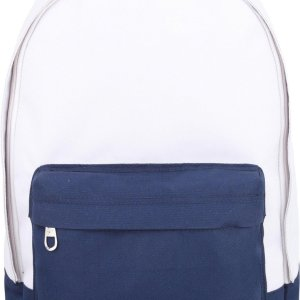 "YLX Classic rugzak. Gebroken wit & navy blauw. Recycled Rpet materiaal 15"". Eco friendly"