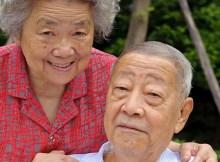 glückliche Senioren in Thailand