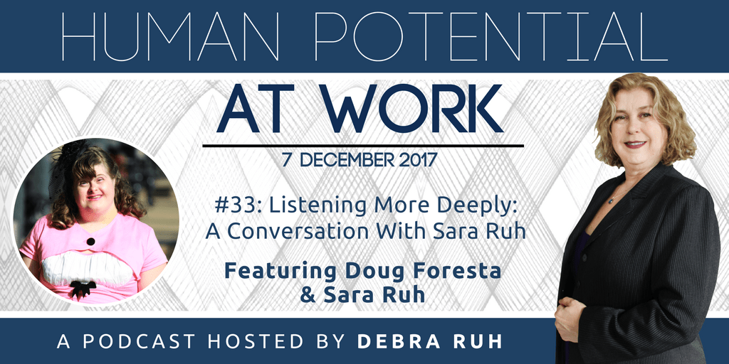 Episode Flyer for #33: Listening More Deeply: A Conversation with Sara Ruh