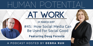 Episode Flyer for #45: How Social Media Can be Used for Social Good