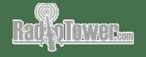 Radio Tower Grayscale Logo