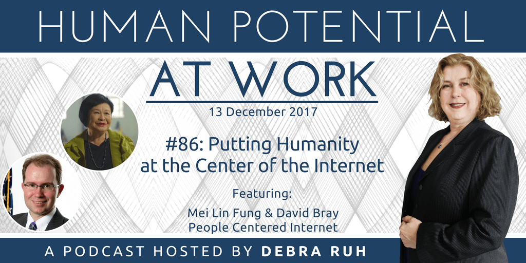 Episode Flyer for #86: Putting Humanity At the Center of the Internet