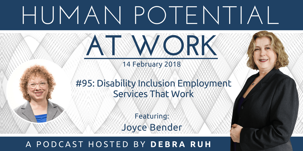 Flyer for episode 95: Disability Inclusion Employment Services That Work