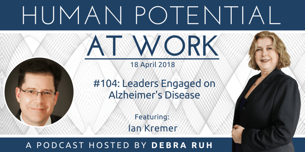 Flyer for Episode #104: Leaders Engaged on Alzheimer's Disease