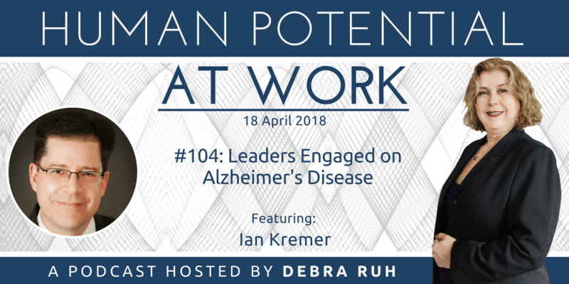 Flyer for Episode #104: Leaders Engaged on Alzheimer's Disease