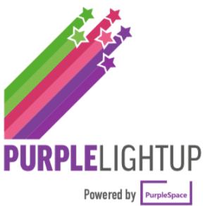 #PurpleLightUpLogo