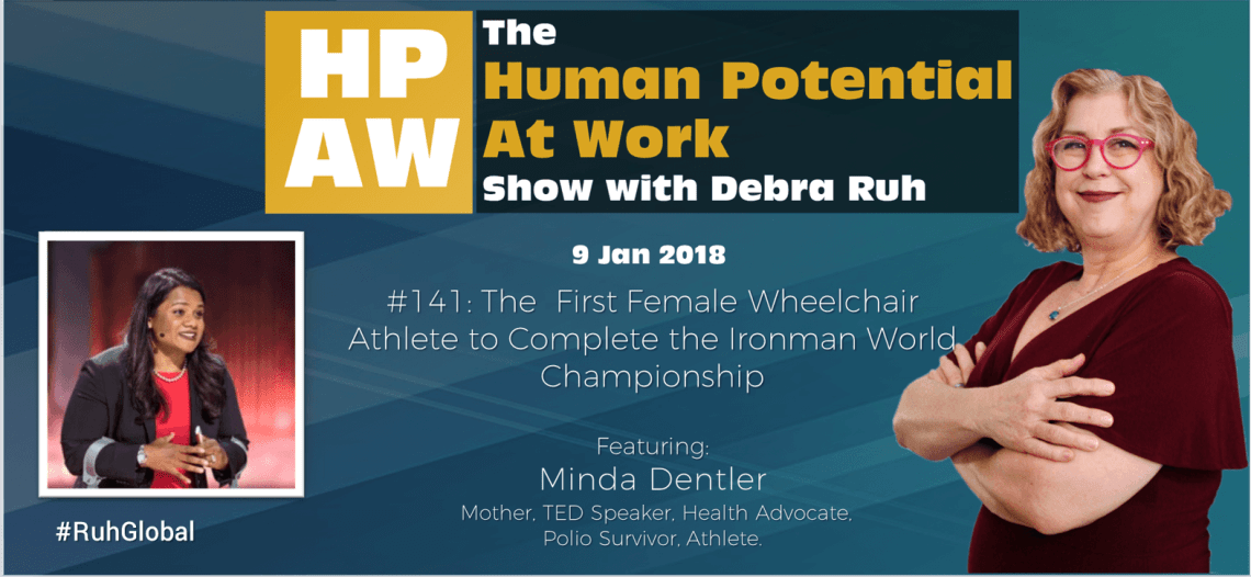 Episode Flyer for #141 The First Female Wheelchair Athlete to Complete the Ironman World Championship