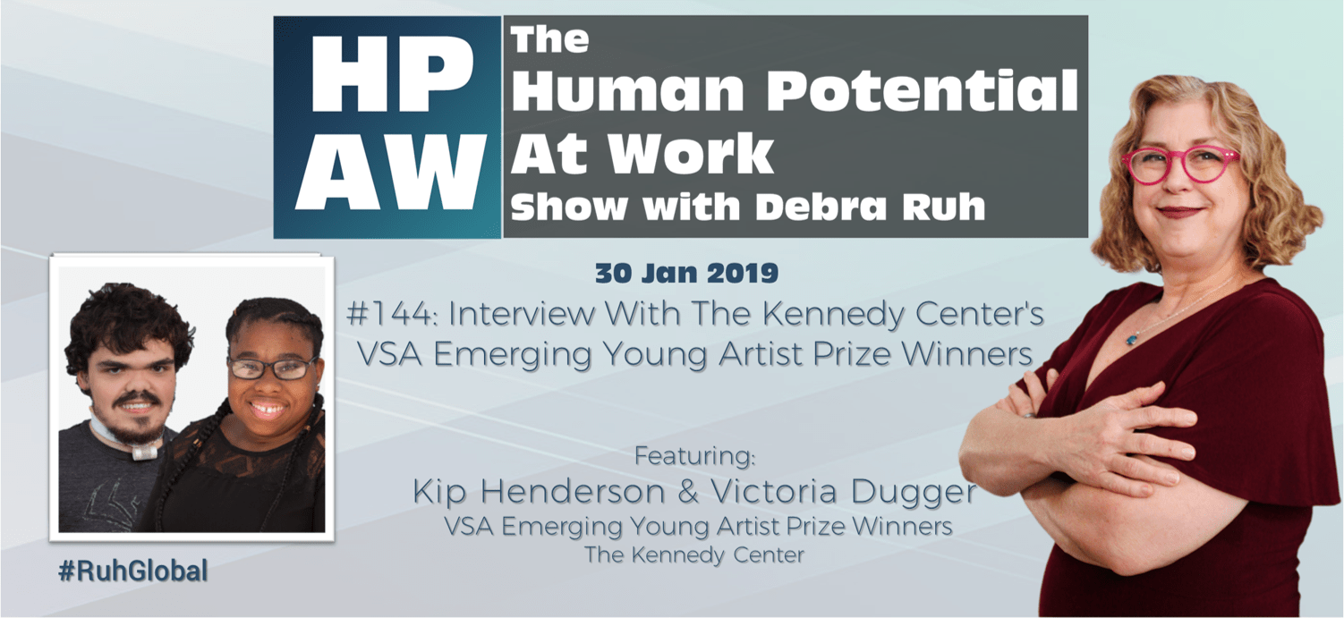 Episode Flyer for #144 Interview With The Kennedy Center's VSA Emerging Young Artist Prize Winners