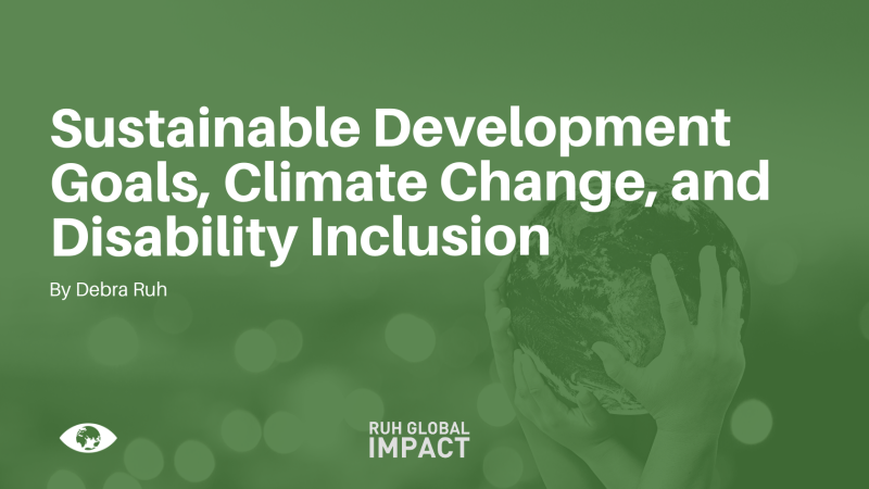 Sustainable Development Goals (SDGS), Climate Change, and Disability Inclusion