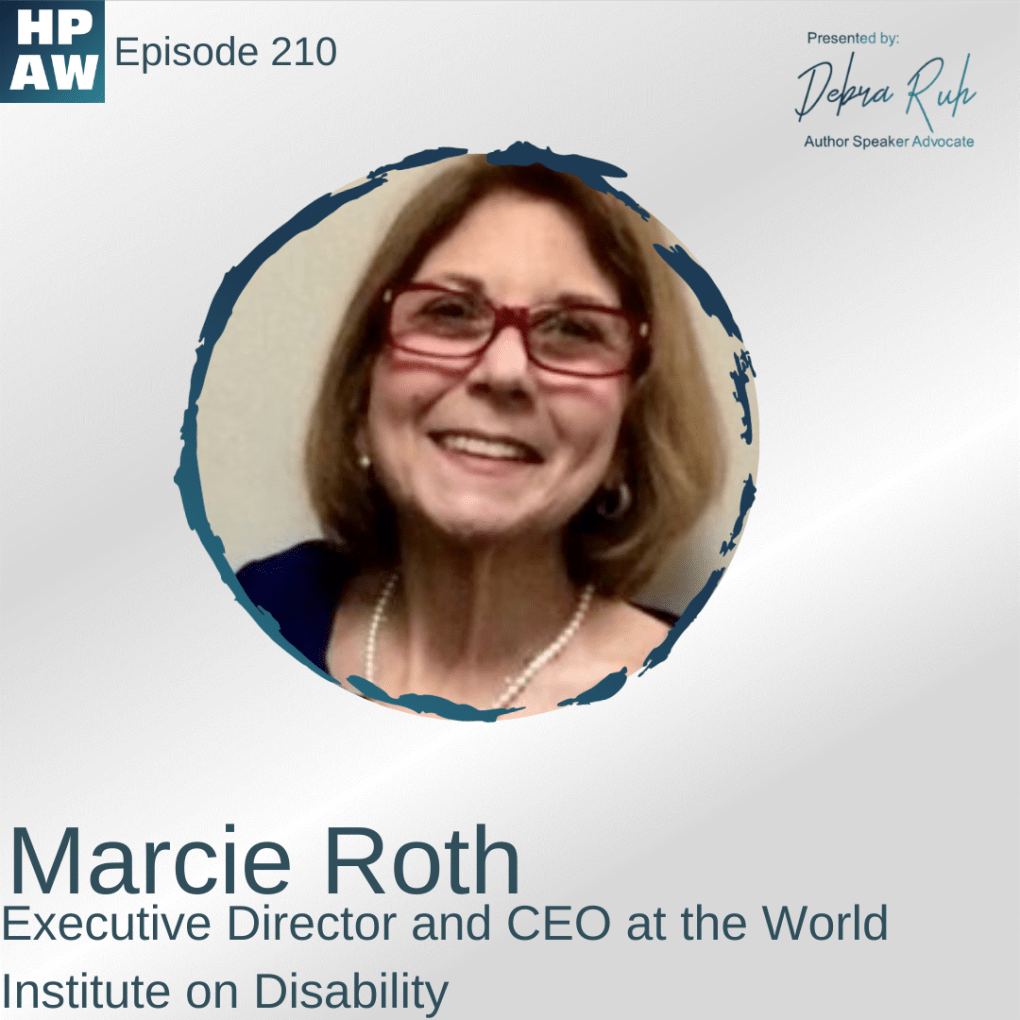 Marcie Roth Executive Director and CEO at the world Institute on Disability