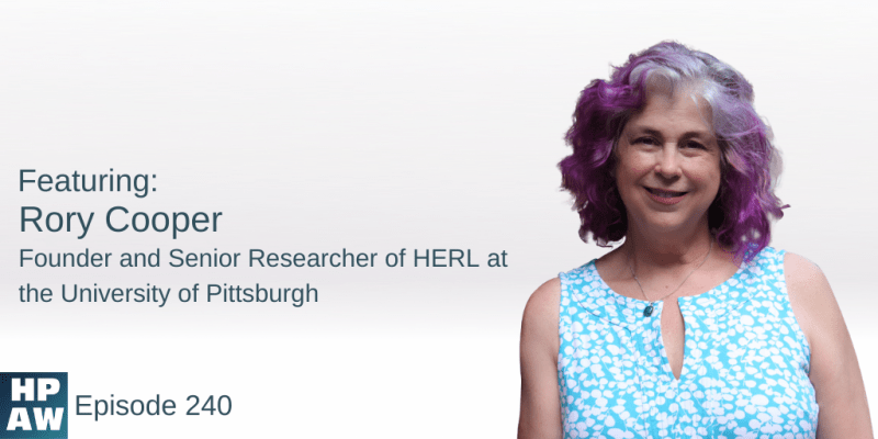 Rory Cooper Founder and Senior Researcher of HERL at the University of Pittsburgh