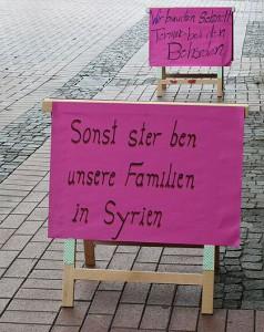 Protestcamp der Syrer