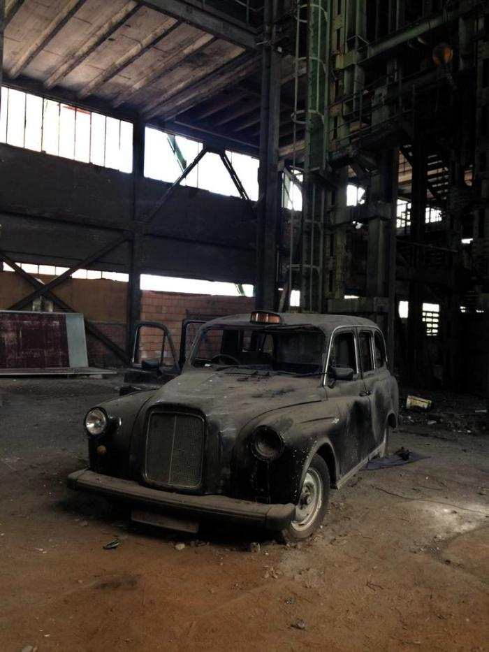 Ein altes Taxi