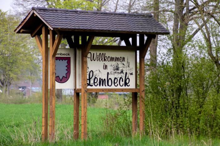 Willkommensschild Lembeck