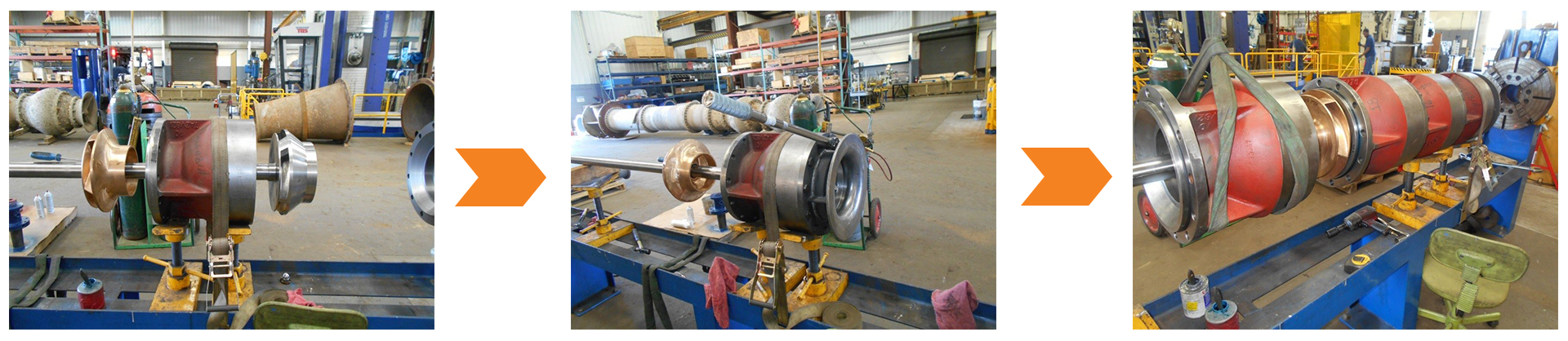 Re-bowl service for Vertical Turbine Pumps