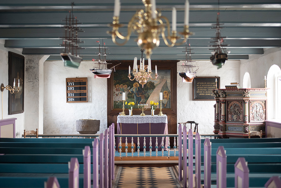 Mandö Dänemark Kirche innen