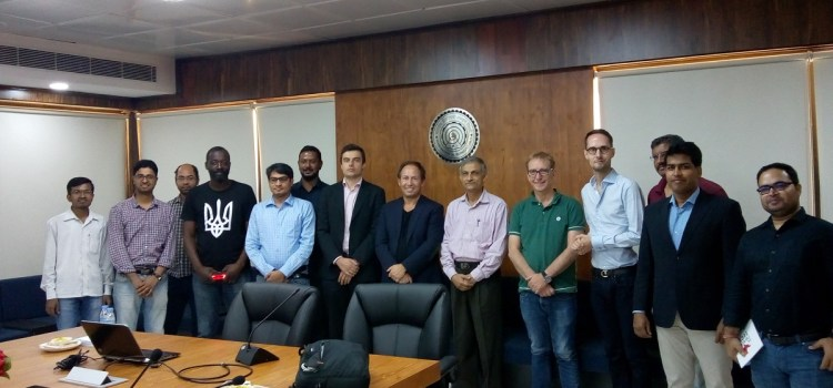 Ruhvenile group met French delegate at IIT Delhi