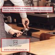 Real Decreto 18/2020, 13 de mayo: nuevas medidas en relación con los ERTE de fuerza mayor