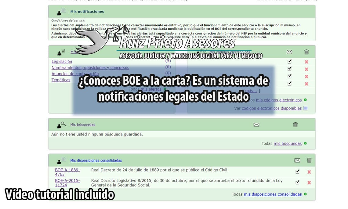 ¿Conoces BOE a la carta? Es un sistema de notificaciones legales del Estado