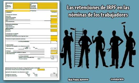 Retenciones de IRPF en las nóminas de los trabajadores