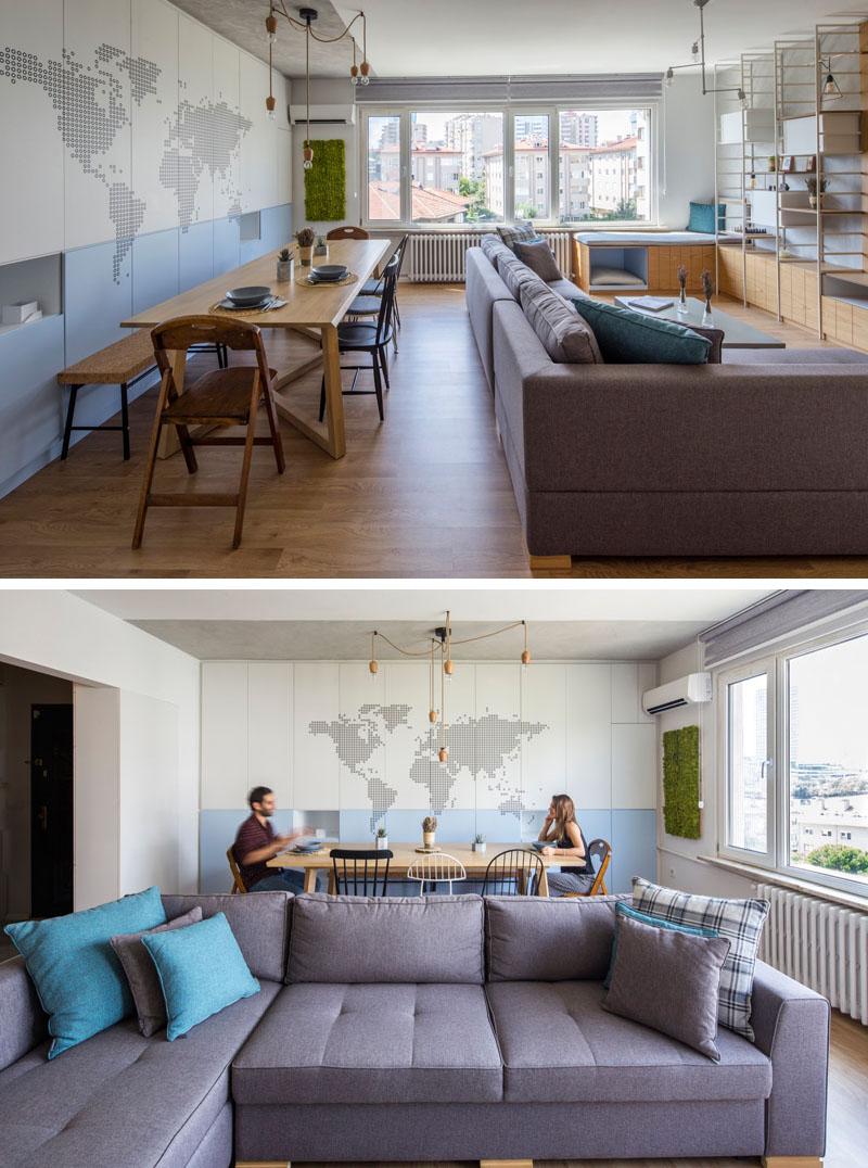 Apartemen Dua Kamar Tidur Ini Memiliki Penyimpanan Kreatif