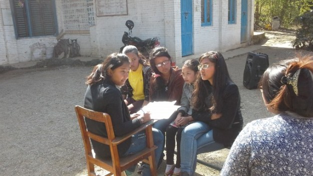 Group 5 planning their drama