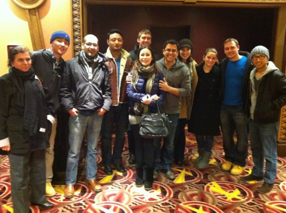 Rukmini Foundation Team in Pittsburgh with Friends @ Loews Theater
