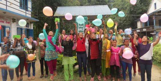 Ruku Scholars standing for girls