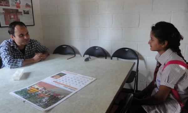 Anita discussing her future plans