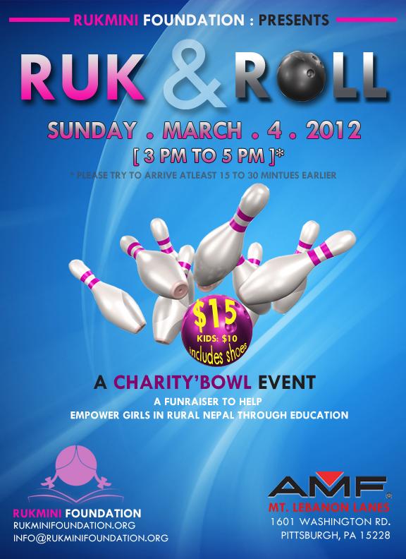 Rukmini Foundation Presents Ruk & Roll - A Charity'Bowl Event