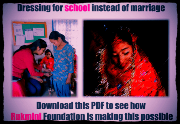Download this PDF to see how Rukmini Foundation addresses child marriage