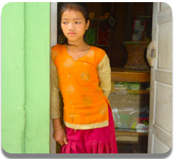 Daughters often miss out on school in poor countries like Nepal