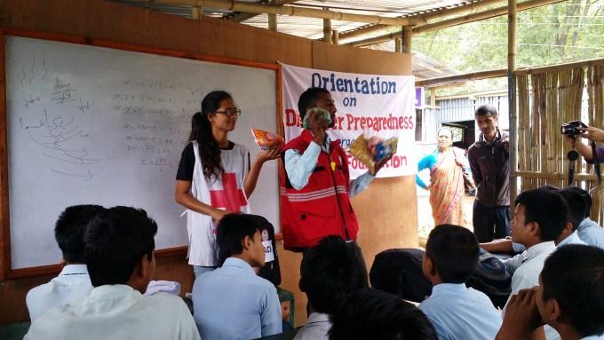 M. Dipesh and Ms. Isnikdha recalling GO BAG